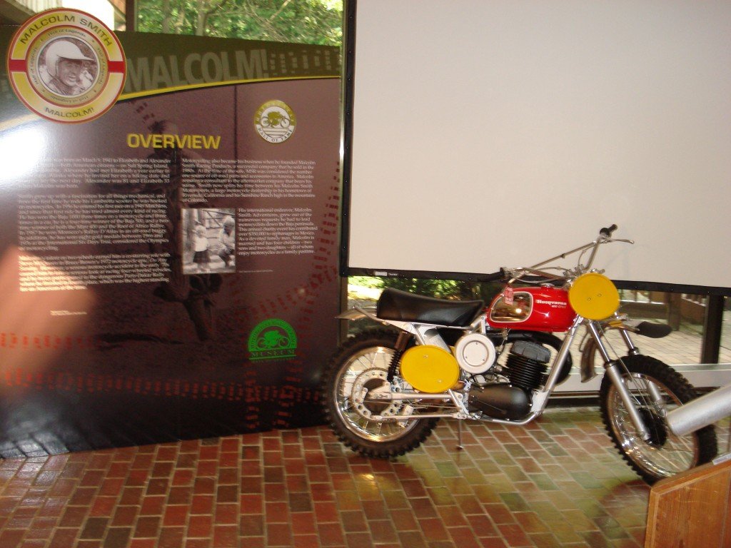 1130 bike at Hall of Fame in Malcolm Smith Exhibit 2007