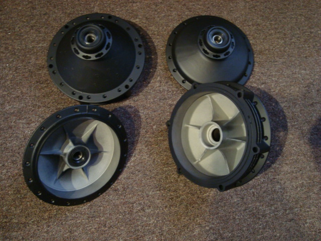 Front and rear hubs