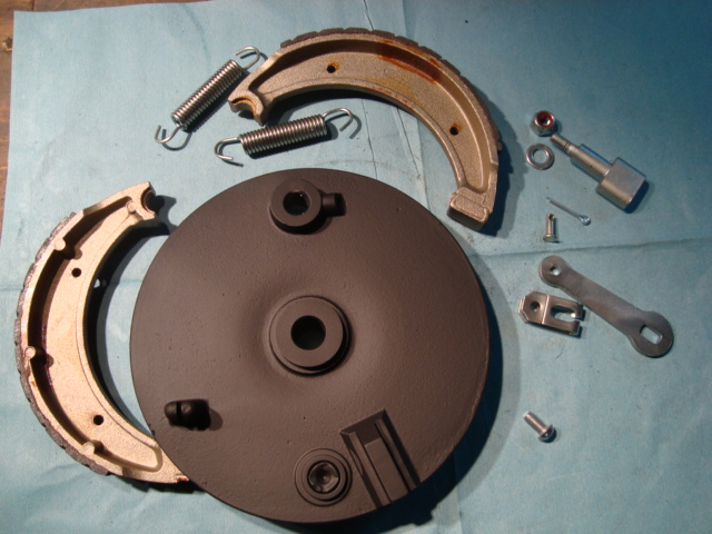Front brake plate