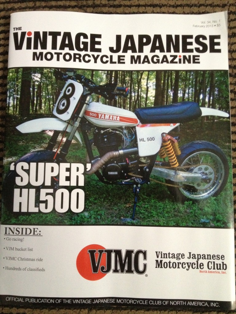 HL500 Supermoto VJMC  front Cover