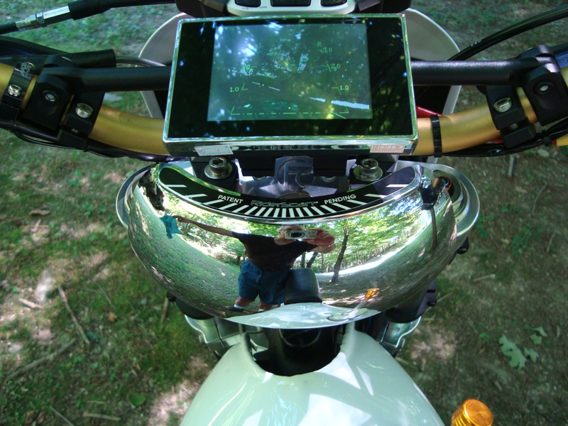 Motorcycle back up camera and Hunter Create Mirror
