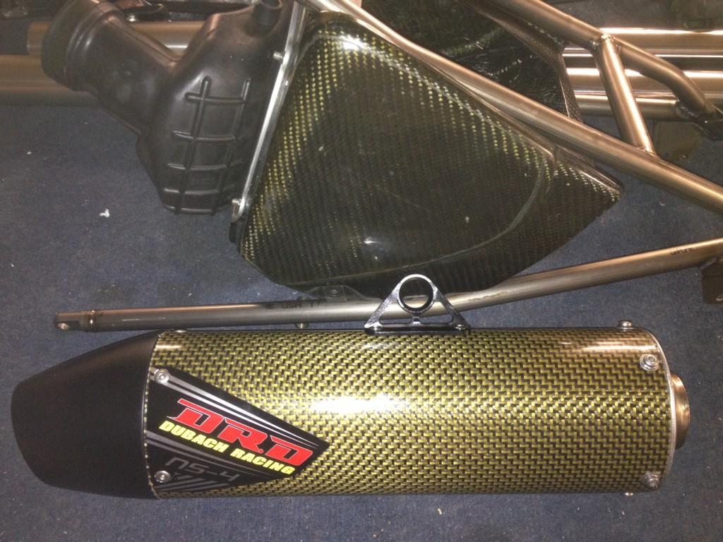 DRD Doug Dubach Racing carbon fiber muffler YZM400