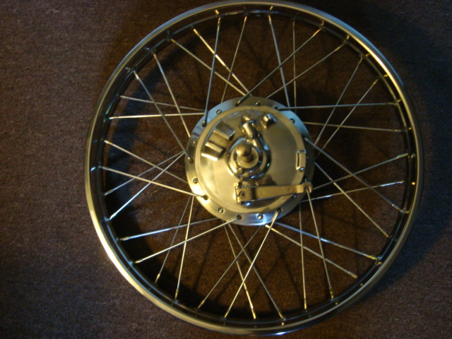 1971 Yamaha DT1MX 250 front wheel complete