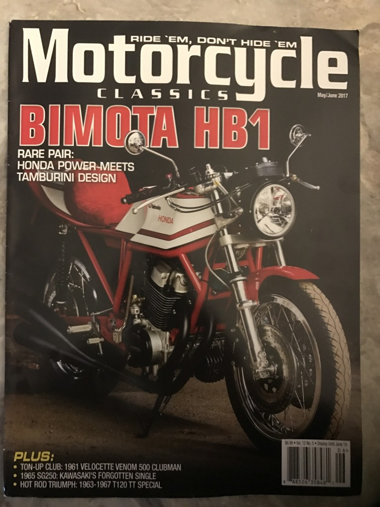 Bimota HB1 Motorcycle Classic Magazine April 2017