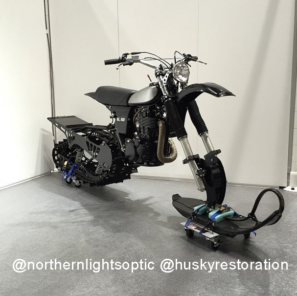 HL500 Yamaha Snow bike. Northernlightsoptic.com